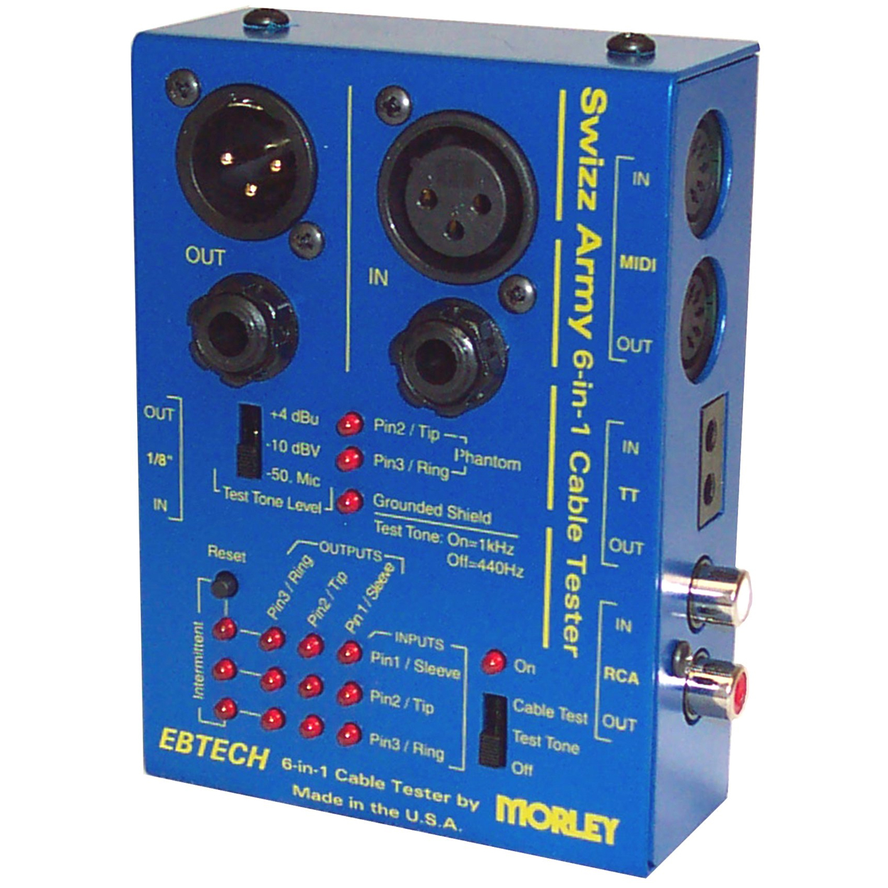 cable tester Ebtech Swizz Army Live On Stage